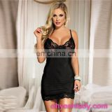In stock black wholesale transparent nighty sexy japanese babydoll