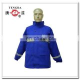 reflective safety blue polyester motorcycle rain jacket