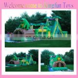 The Frog inflatable tropical obstacle course for sale