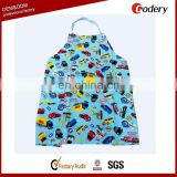 Cutom printing children's type kids apron