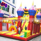 Inflatable bouncer with slide for children
