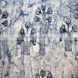 2.5 Yard Natural Indigo Blue Dye Shibori Printed Cotton Dabu Print Fabric Batick