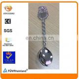 zinc alloy silver plated braided twist metal blank souvenir spoon