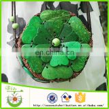 Green flower coin wallet purse DIY women wallet wrist bag key bag