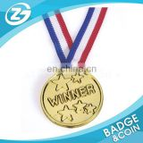 Promotion Gift Custom Zinc Alloy Metal Sport Medal with Ribbon