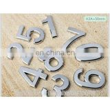 High quality metal stamped stainless chormate door numbers