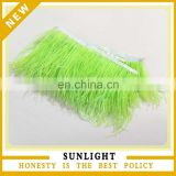 Green Ostrich Feather Fringe Ostrich feather trim for garment decoration