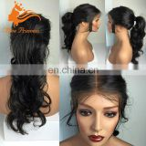 Cheap Body Wave SIlk Top Full Lace Wig Midlle Part Malaysia Human Hair Silk Top Lace Front Wig With Ponytail
