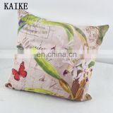 custom printing short plush cushion covers printed pillow