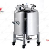 Square Stainless Steel Storage Tank For Food, Movable Pressure Storage Tank