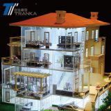 Scale 1/50 Villa architecture model with and miniature building model