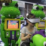 New Design Colorful Kids Enjoy 9D VR Cinema Little Dragon VR Simulator