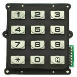 12 button customized zinc alloy waterproof metal keypad for access control