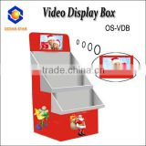 LCD player Custom retail Shelf paper cardboard LCD CARD display tray promotion box with LCD playing