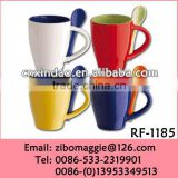 Glazed Wholesale Porcelain Mug with Spoon for Promotional Coffee Mug Spoon