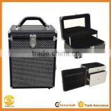 Professional Makeup Cosmetic Train Case Jewelry Organizer,Krystal Black Cosmetic travel carry case