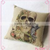 Wholesale Printing Cushion Cover Watercolor Skull Headdress Pillow Cover Sofa Cover Decorative Pillows