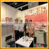 India customer visit our hongkong Exhibition for polyester electric blanket with CE,ROHS certification