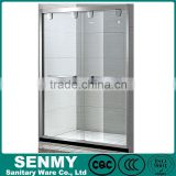 wholesale double glass door 2 doors sliding straight adjustable stainless steel frame shower door seal strip