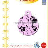 Flower art drawing metal charms necklace jewelry