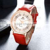 Sexy red hand watch for girl, cheap leather watches women                                                                         Quality Choice