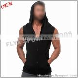 High quality blank pullover zip up gym tank top custom sleeveless hoodies singlet for men                                                                                                         Supplier's Choice