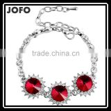 2016 New Arrival China Wholesale Fashion Jewerlry Round Crystal Chain Bracelet XPJ0303