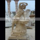 Lady shaped fountain stone statue