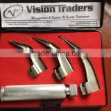 Laryngoscope SET , 3 , 4 , 5 blades+LED, Fiber Optic , Diagnostic Instruments ,M Laryngoscope Macintosh 2015, PayPal Acceptable