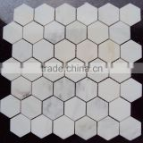 Popular Eastern White Marble Hexagon Mosaic Tiles on Sales