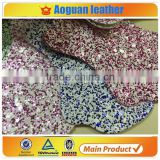 2016 hotselling glitter fabric pu glitter for making hair decorations