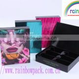 high quality Luxury and fashionable cosmetics packaging paper boxes with small storage box
