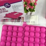 As Seen On TV Silicone Ball Shape Ice Lattice Cube Tray 20 Holes Tasty Top Cake Pops