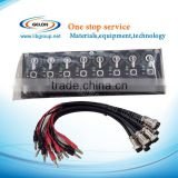 coin cell tester with 8 channels connecting board for testing button cell current,voltage,capacity