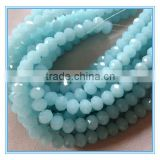 4mm faceted glass rondelle beads, imitational jade color rondelle beads strand                                                                                                         Supplier's Choice