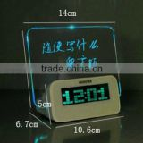 Wholesale high quality led writing board alarm led clock                                                                         Quality Choice