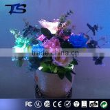 Hot sale Floor Color change led fiber optic flowers with ceramics pot wih wholesale for Foshan factory