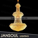 household french style famous brand 3 tiers gold crystal pendant light chandelier for house decoration