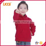 Wholesale OEM Best Quality Fleece Children Plain Hoodies Winter Clothes For Girls and Family