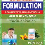 formula document for making General Health Tonic For High Blood pressure