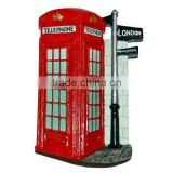 Resin london telephone cities fridge magnet for souvenir