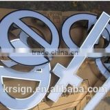 Luminous letters / sign letters of mirrored stainless steel/acrylic punching lighted word/channel letters door sign