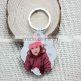Flower shape wooden keychain for heat transfer printing