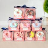 Mendior Doughnut organic cute lip balm single packing with brush Christmas birthday gift 1pcs/box support OEM