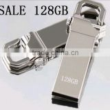 Promotional gifts,USB Flash Drives 128GB pendrive Stainless steel fashion usb stick mini 128GB pen drive gift free shipping