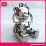 High quality custom bear shape alloy keychain