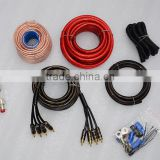 Good Quality RCA cable for car audio with 4gauge speaker cable 4 core