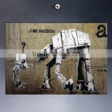 Digital printing banksy canvas art painting