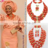 Lastest african coral beads jewelry set china wholesale bead jewelry set for wedding                                                                         Quality Choice
