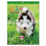 2016 cute pet calendar custom full color printing table calendar, table calendar wholesale